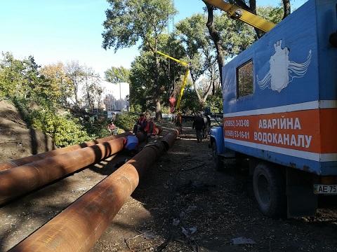 Работы по замене канализационного коллектора в г. Каменское продолжаются Днепродзержинск