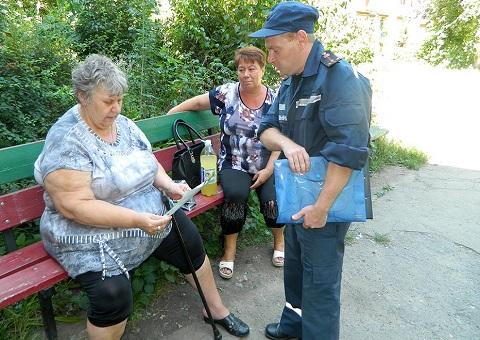 Спасатели Каменского для профилактической работы вышли на территорию города Днепродзержинск