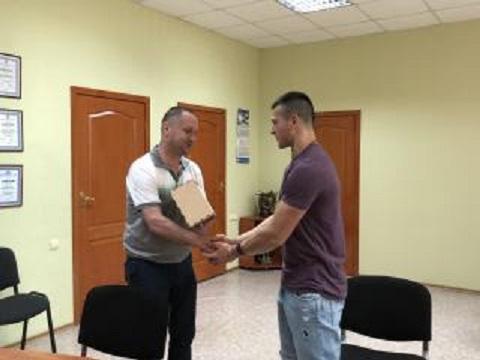В Каменском вручили приз учителю физкультуры СОШ № 5 Днепродзержинск