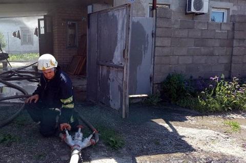В г. Каменское ликвидировали пожар в частном домостроении Днепродзержинск