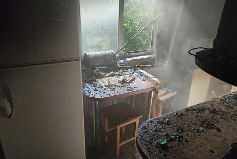 В многоэтажке г. Каменское горела квартира Днепродзержинск