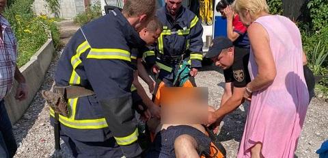Под г. Каменское спасатели оказали помощь в госпитализации пострадавшего Днепродзержинск