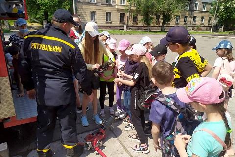 В Каменском сотрудники ГСЧС проводят экскурсии для школьников Днепродзержинск