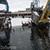 В Каменском в акватории Днепра накренилась конструкция крана на барже