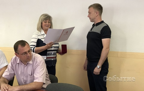 Каменчан наградили за заслуги перед городом Днепродзержинск