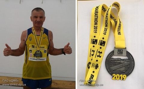 Каменский марафонец победил на спортивных соревнованиях в Днепре Днепродзержинск