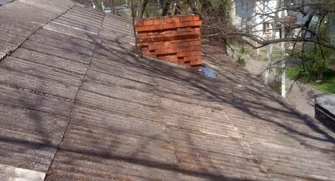 В доме по пр. Аношкина г. Каменское ремонтировали крышу Днепродзержинск