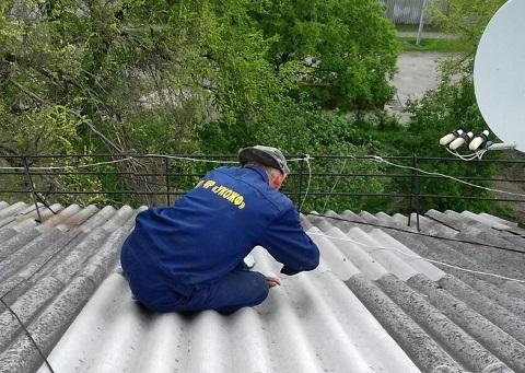 Ремонт на крыше по ул. Подольская г. Каменское выполнили рабочие УКОЖФ Днепродзержинск