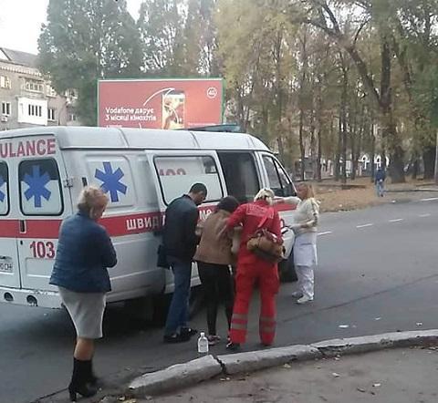 В центре г. Каменское произошел наезд на пешехода Днепродзержинск