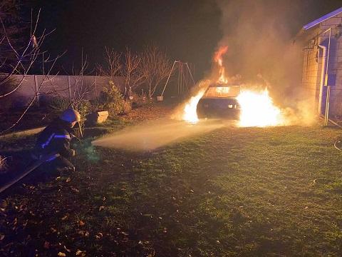 Под Каменским спасатели ликвидировали возгорание автомобиля Днепродзержинск