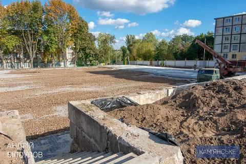 На Черемушках в г. Каменское активно ведут строительство многофункционального спортивного комплекса  Днепродзержинск