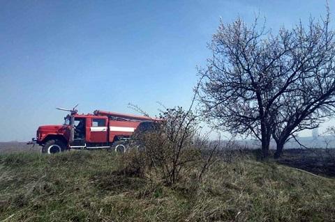 В Каменском ликвидировали пожары в экосистемах Днепродзержинск