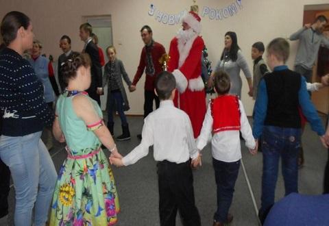 Новогодний праздник провели в Заводском районе г. Каменское  Днепродзержинск