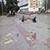 На главной площади Каменского выровняли поверхность тротуарной плитки