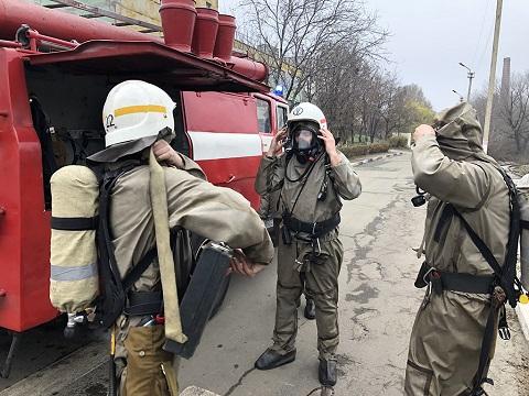 На «ДнепрАзоте» г. Каменское провели объектовые учения Днепродзержинск