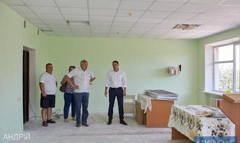 Мэр города Каменское проверил ход строительных работ в больнице №5 Днепродзержинск