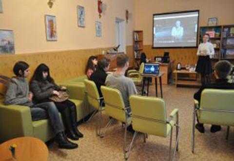 В библиотеке города Каменское прошла встреча в литературном клубе Днепродзержинск