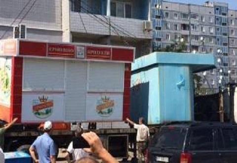 В Каменском продолжают работы по демонтажу незаконно установленных временных сооружений Днепродзержинск