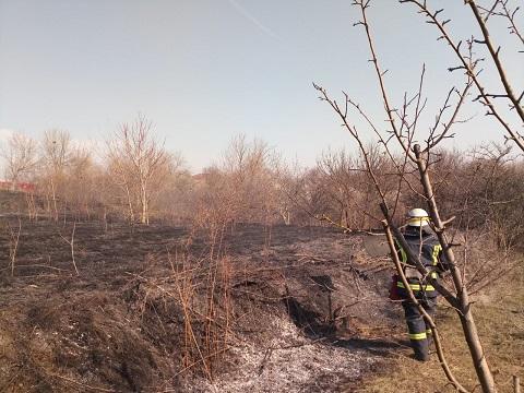 Спасатели ГПСЧ № 8 г. Каменское ликвидировали возгорание травы Днепродзержинск