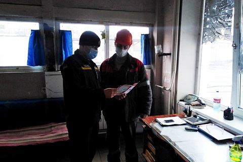 На «Южкоксе» г. Каменское спасатели провели индивидуальную разъяснительную работу Днепродзержинск
