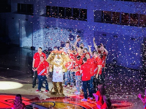 В Каменском чествовали баскетболистов команды «Прометей» Днепродзержинск