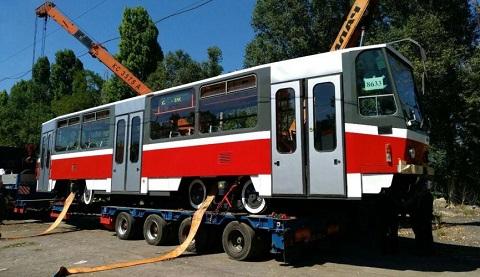 КП «Транспорт» г. Каменское принял очередной трамвай из Чехии  Днепродзержинск