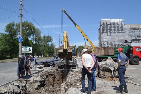 В Каменском проводят ремонтные работы Днепродзержинск