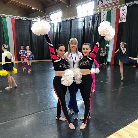 Каменские черлидеры заняли второе место на турнире в Италии Днепродзержинск