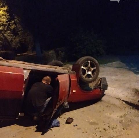 В Каменском ночью перевернулся «ВАЗ» Днепродзержинск