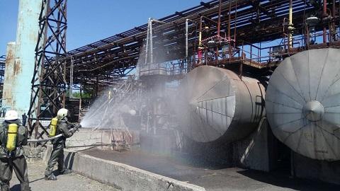В Каменском на заводе минеральных удобрений прошли объектовые учения Днепродзержинск