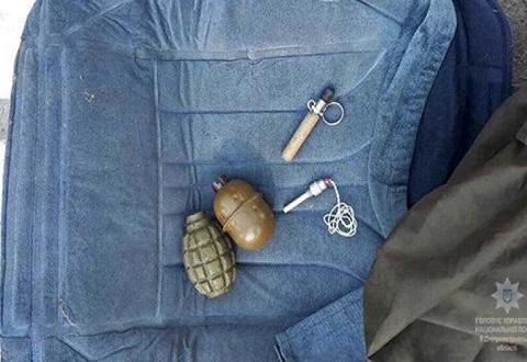 В Каменском провели задержание транспортного средства при перевозке гранат Днепродзержинск