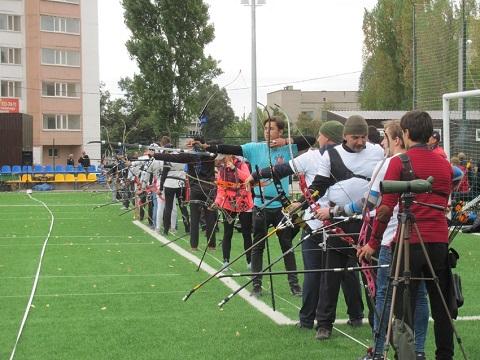 В городе Каменское  провели первое открытое первенство по стрельбе из лука Днепродзержинск