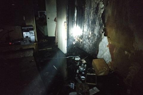 В Каменском на поселке Строителей горела квартира Днепродзержинск
