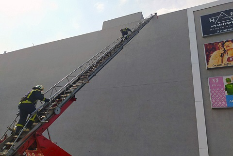 В Каменском на базе ТРЦ «Dmart» провели пожарные учения  Днепродзержинск
