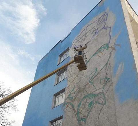 В Каменском реализуют два общественных проекта по созданию муралов Днепродзержинск