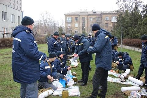 Спасатели г. Каменское провели сбор по сигналу «Сбор-авария» Днепродзержинск