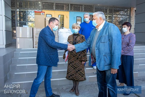 В горбольницу № 7 г. Каменское передали медицинское оборудование  Днепродзержинск