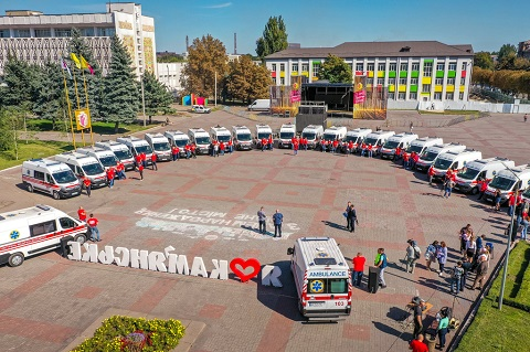 Каменская станция экстренной медпомощи получила 26 новых карет СМП Днепродзержинск