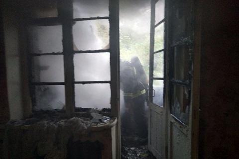 Во время пожара в г. Каменское спасли женщину  Днепродзержинск