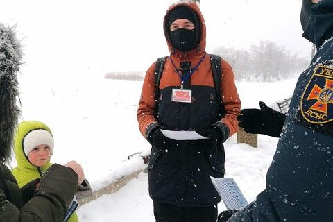 Спасатели г. Каменское провели с волонтёрами профилактическое мероприятие  Днепродзержинск