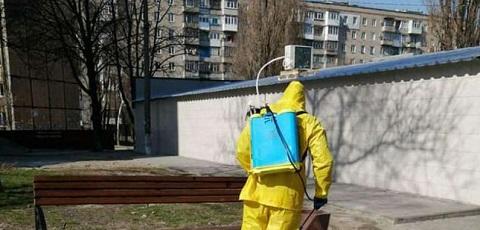 В Каменском места отдыха горожан дезинфицируют Днепродзержинск