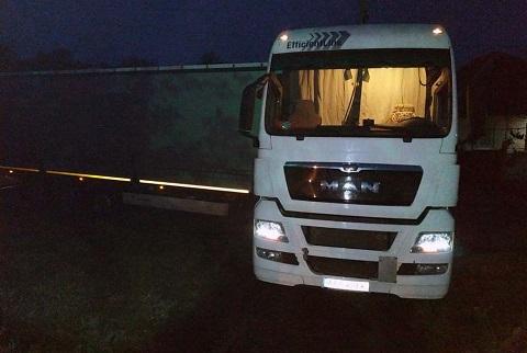 Спасатели ГПСЧ №8 г. Каменское оказали помощь водителю грузовика  Днепродзержинск