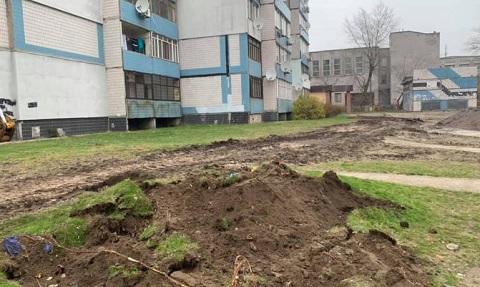 В жилом секторе левобережья г. Каменское обустраивали дорожки для пешеходов Днепродзержинск