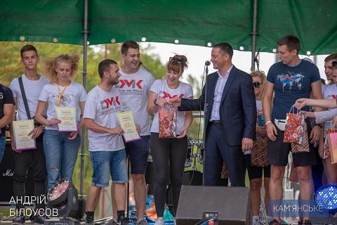 День города в Каменском завершили праздничным салютом Днепродзержинск