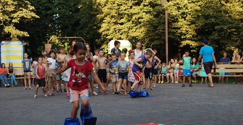 Очередная водная битва в парке Каменского собрала горожан Днепродзержинск
