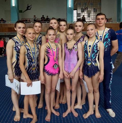 Акробаты г. Каменское получили награды чемпионата Украины Днепродзержинск