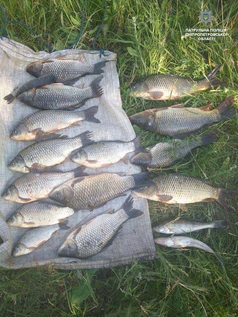 На берегу Каменского водохранилища задержали двух браконьеров Днепродзержинск