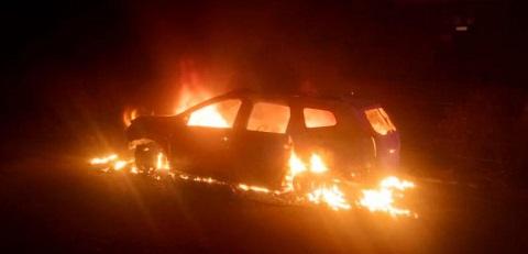 На Колеусовской в г. Каменское сгорел автомобиль  Днепродзержинск