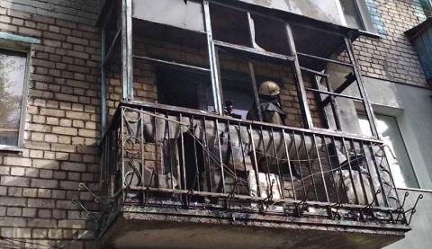 В Южном районе г. Каменское горел балкон Днепродзержинск