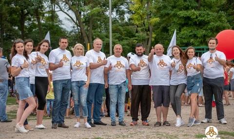 Жители поселка Романково г. Каменское приняли участие в спортивном празднике Днепродзержинск